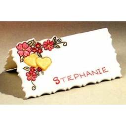 View the NAME PLACE SETTING A - Heart - icing cutter online at Cake Stuff