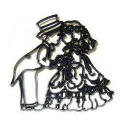 View the REVERSE BRIDE & GROOM icing sugarcraft cutter online at Cake Stuff