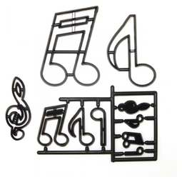 View the EXTRA LARGE MUSIC NOTES 10 pc icing cutter set online at Cake Stuff