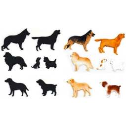 View the # 1 DOG SILHOUETTE 7 pc icing sugarcraft cutter set online at Cake Stuff