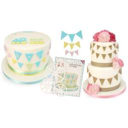 View the EASY BUNTING 3 pc icing sugarcraft cutter set online at Cake Stuff