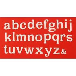View the LARGE ALPHABET - lower case - icing cutter set online at Cake Stuff