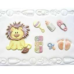 View the BABY LION & NURSERY ITEMS 7pc icing cutter set online at Cake Stuff