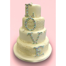 View the LOVE  4 pc icing letter cutter set online at Cake Stuff