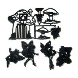 View the 9 pc FAIRIES & TOADSTOOLS icing sugarcraft cutter set online at Cake Stuff