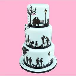 View the FAMILY SILHOUETTE 11 pc icing sugarcraft cutter set online at Cake Stuff