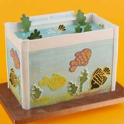 View the FISH 8 pc cake stencil & icing cutter set online at Cake Stuff