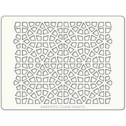 View the MOROCCAN MOSAIC professional cake stencil online at Cake Stuff