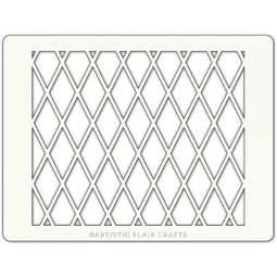 View the HARLEQUIN LATTICE professional cake stencil online at Cake Stuff