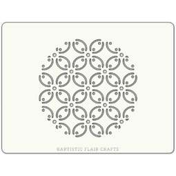 View the PETAL TILE professional cake stencil online at Cake Stuff