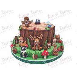 View the WOODLAND ANIMALS 19 pc silicone icing mould set online at Cake Stuff