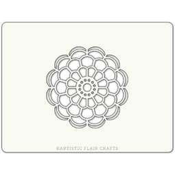 View the FLOWER MANDALA professional cake stencil online at Cake Stuff