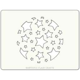 View the STAR BURST ROUND professional cake stencil online at Cake Stuff