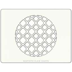 View the MOROCCAN TRELLIS ROUND professional cake stencil online at Cake Stuff