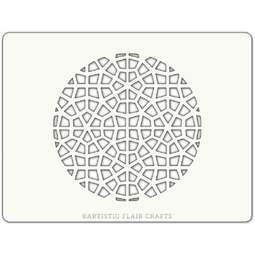 View the MOROCCAN MOSAIC 2 ROUND professional cake stencil online at Cake Stuff