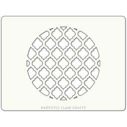 View the MOROCCAN PANEL ROUND professional cake stencil online at Cake Stuff