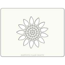 View the SUNFLOWER BLOSSOM professional cake stencil online at Cake Stuff