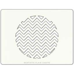 View the CHEVRON ROUND professional cake stencil online at Cake Stuff
