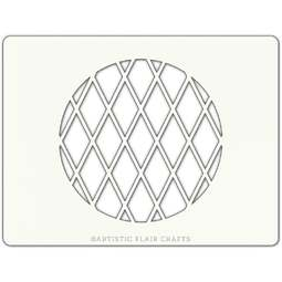 View the HARLEQUIN LATTICE ROUND professional cake stencil online at Cake Stuff