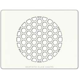 View the HONEYCOMB ROUND professional cake stencil online at Cake Stuff