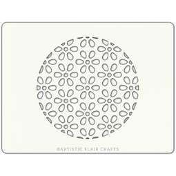View the DAISY BACKGROUND professional cake stencil online at Cake Stuff