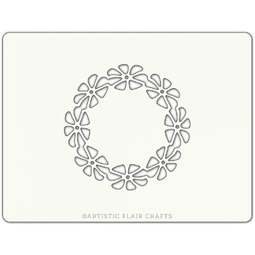 View the DAISY CHAIN professional cake stencil online at Cake Stuff