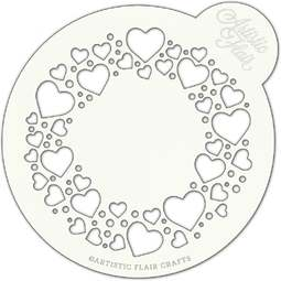 View the CIRCLE OF LOVE large professional cake top stencil online at Cake Stuff