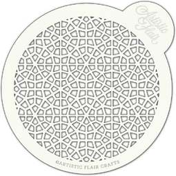 View the MOROCCAN MOSAIC large professional cake top stencil online at Cake Stuff