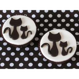 View the KITTIES 2 pc stainless steel icing cutter set online at Cake Stuff