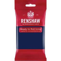 View the 250g Navy Blue professional Regalice Decor-Ice sugarpaste ready to roll icing online at Cake Stuff