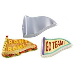 View the **CLEARANCE** Flag Pennant novelty cake tin / pan online at Cake Stuff