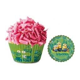 View the MINIONS cupcake baking cases pk 50 online at Cake Stuff