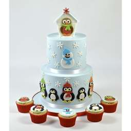 View the Mummy & Baby Penguin icing & gumpaste cutter set online at Cake Stuff