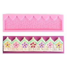 View the Alhambra flower border cake / edible lace silicone mould mat online at Cake Stuff