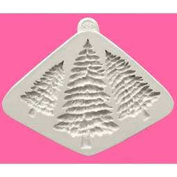 View the Fir Trees Silhouettes silicone icing mould online at Cake Stuff