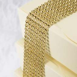 View the GOLD plastic diamante cake band - 8 rows / 40mm wide x 1.5m online at Cake Stuff