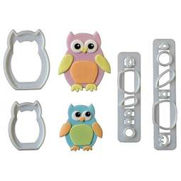 View the Mummy & Baby Owl icing & gumpaste cutter set online at Cake Stuff