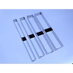 View the 4 pc SIDE STRIPES stainless steel icing cutter set online at Cake Stuff