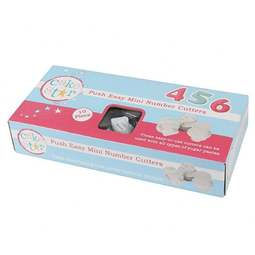 View the MINI numbers Push Easy icing plunger cutter set online at Cake Stuff