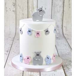 View the Mummy & Baby Hippopotamus / Hippo 4 pc icing cutter set online at Cake Stuff