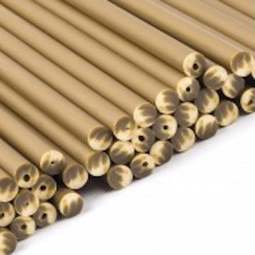 "View the 50 GOLD 150mm / 6"" plastic cake pop sticks online at Cake Stuff"