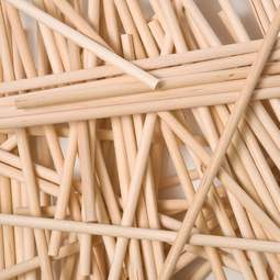 "View the 50 WOODEN 230mm / 9"" cake pop lolly sticks online at Cake Stuff"