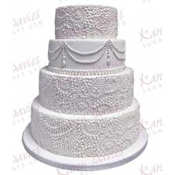 View the Ornate Pearl Effect silicone icing mould online at Cake Stuff