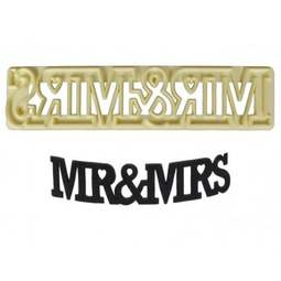 View the MR & MRS - Curved Words icing cutter set online at Cake Stuff
