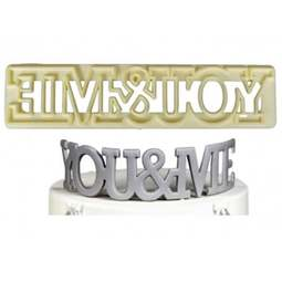 View the YOU & ME - Curved Words icing cutter set online at Cake Stuff
