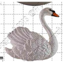 View the Swan (right) silicone icing sugarcraft mould online at Cake Stuff