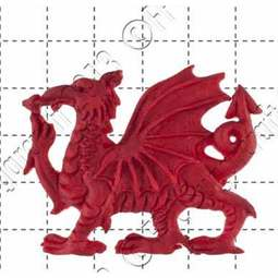 View the Welsh Dragon silicone icing sugarcraft mould online at Cake Stuff