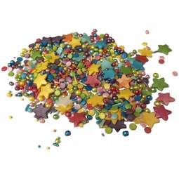 View the RAINBOW MIX edible confetti & cupcake sprinkles 100g online at Cake Stuff