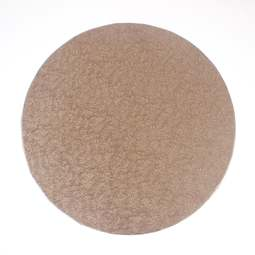 "View the 10"" ROSE GOLD round thick cake board / drum online at Cake Stuff"
