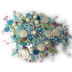 View the MERMAID MIX edible confetti & cupcake sprinkles 100g online at Cake Stuff